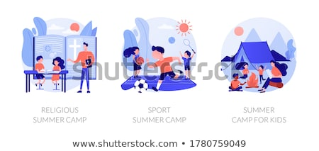Recreational and educational activities for children abstract me Stock photo © RAStudio