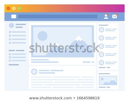 Social Media Interface Networks Page Newsfeed Stock photo © robuart