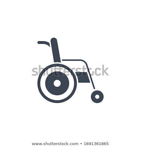 Disabled related vector glyph icon. Stock photo © smoki