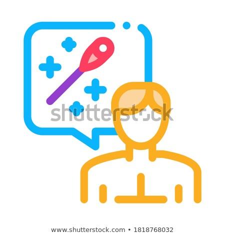 Uomo pensare agopuntura icona vettore contorno Foto d'archivio © pikepicture