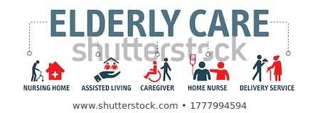 Elderly care concept banner header. Stock photo © RAStudio