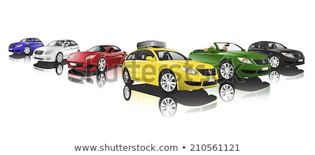 Four Cars Isolated on White, Cabriolet and Sedans Stock photo © robuart