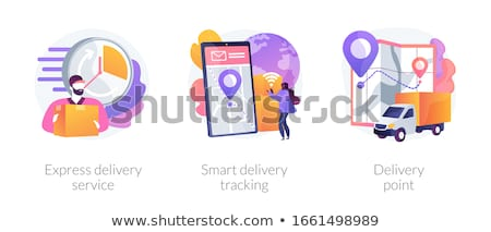 Express courier delivery vector concept metaphor Stock photo © RAStudio