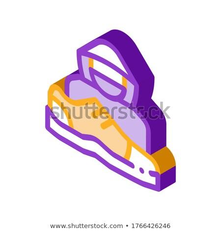 Cipők bolti tolvaj emberi izometrikus ikon vektor Stock fotó © pikepicture