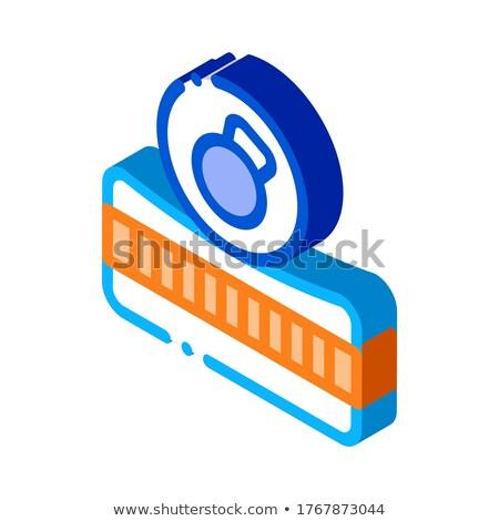 Mattress Metallic Weight isometric icon vector illustration Stock photo © pikepicture