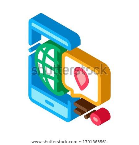 Direction Plates Signpost isometric icon vector illustration Stock photo © pikepicture