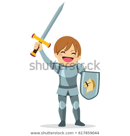 Young knight holding a sword Stock photo © Dazdraperma