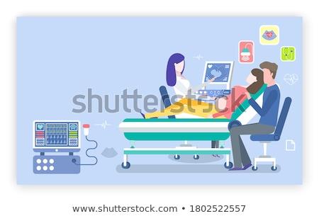 ストックフォト: 将来 · 母親 · シルエット · 小さな · ボディ · 塗料