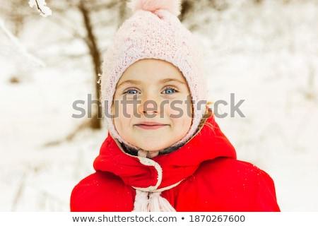 fiú · piros · kabát · zárt · szemek · szem - stock fotó © Paha_L