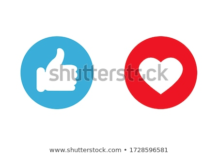 blue new web and media internet button icon stock photo © fenton