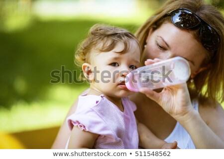 küçük · kız · el · su · bebek · dışarı - stok fotoğraf © dacasdo