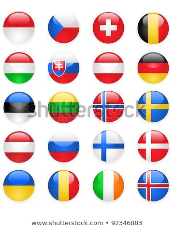 doze · botões · bandeira · fundo · botão - foto stock © winner