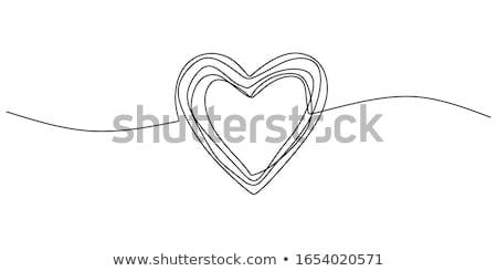 inny · serca · para · odizolowany · biały · miłości - zdjęcia stock © marinini