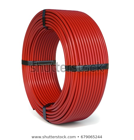 plastic red rolled up hose or cable Stock photo © Melvin07