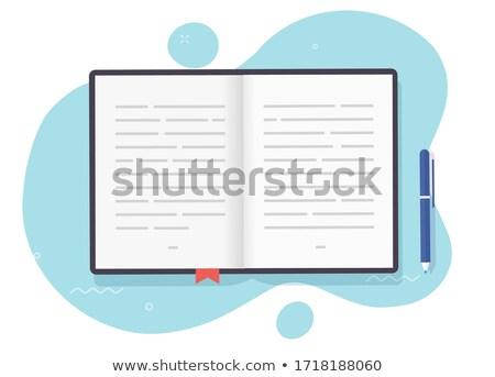 Karton jegyzettömb vágólap kartondoboz üzlet textúra Stock fotó © pkdinkar