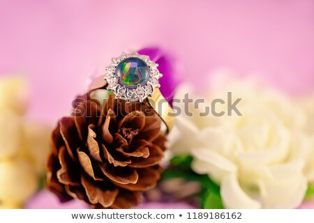 Solitaire Diamond Surrounded By Colorful Gems Stock photo © Kacpura