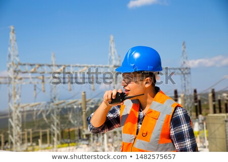 young foreman using radio to communicate stock photo © photography33
