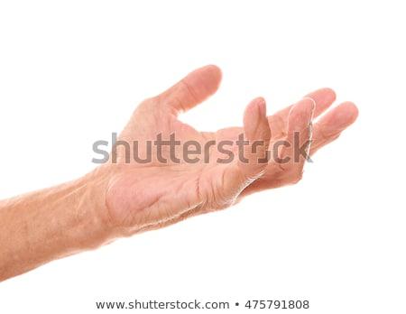 старик · рук · выстрел · стороны · человека - Сток-фото © aremafoto