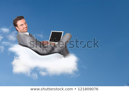 felhő · számítógép · építkezés · technológia · fehér · internet - stock fotó © photography33