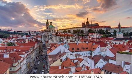 görmek · Prag · Çek · Cumhuriyeti · şehir · manzara · kilise - stok fotoğraf © Ionia