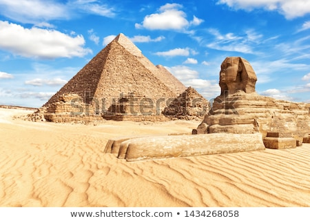sphinx and pyramid giza stock photo © bbbar