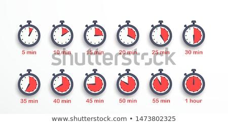 Cronometro cromo fronte view rosso mani Foto d'archivio © JohanH