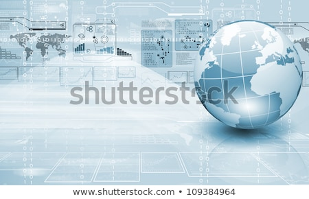 azul · mundo · Internet · mapa · mundo - foto stock © BrunoWeltmann