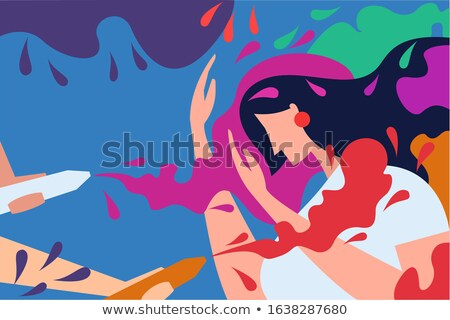 woman with paint spaying device stock photo © photography33
