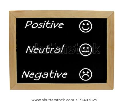 Retroazione positivo neutro negative lavagna texture Foto d'archivio © bbbar