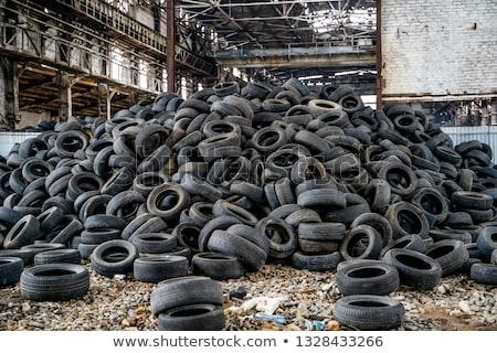 wyblakły · starych · opon · port · Melbourne · Australia - zdjęcia stock © stocksnapper