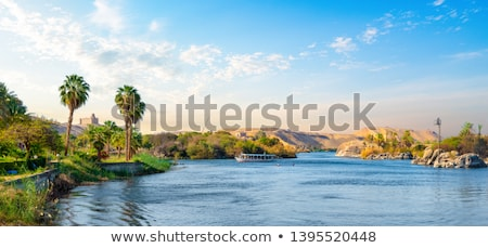 Sailing Boats On River Nile Stock fotó © givaga