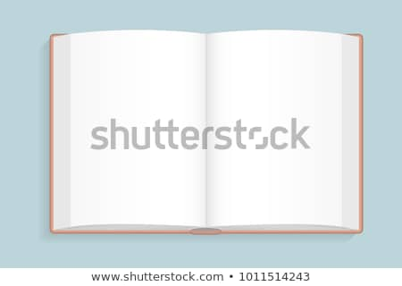 Foto stock: Vector Illustration Of Opened Blank Book With Red Cover Viewed F