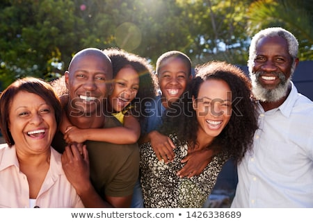 family portrait, grandmother, son, daughter Stock photo © RuslanOmega