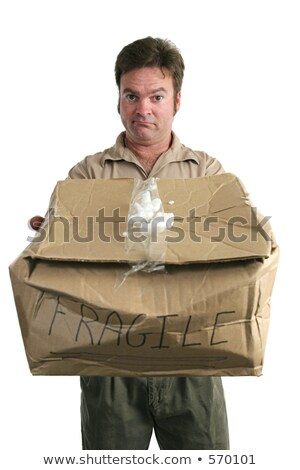Apologetic Delivery Man Stock photo © lisafx