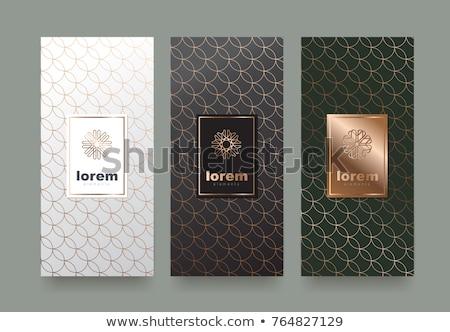 ベクトル 文房具 セット 抽象的な パターン 緑 ストックフォト © malexandric