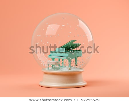 snow globe with pink balls stock photo © sandralise