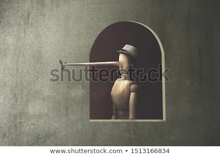 Marionetta dettaglio Praga donna faccia uomo Foto d'archivio © pedrosala