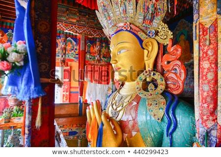 büyük · Buda · heykel · Hindistan · göz · altın - stok fotoğraf © haraldmuc