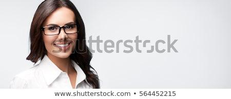 Kadın yürütme gözlük iş portre Stok fotoğraf © photography33