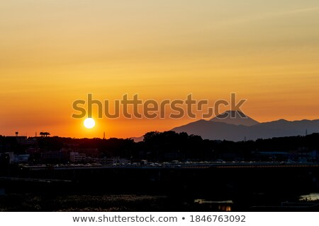 Evening Stratus Clouds in the mountains Stock photo © wildnerdpix