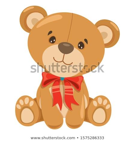 Little boy embraces a teddy bear  Stock photo © ra2studio