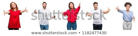человека · широкий · открытых · оружия · счастливым · деловой · человек - Сток-фото © zittto
