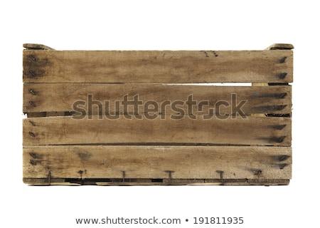 Velho caixa pequeno preto isolado Foto stock © samsem