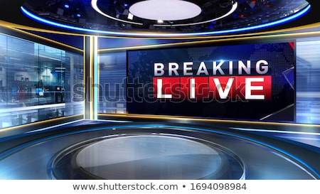 3d studio tv virtual set stock photo © moatsem059