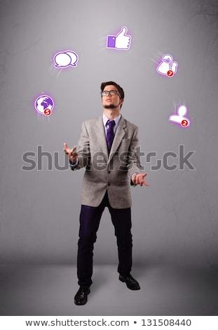 Juggling with Globe Stock photo © vectomart