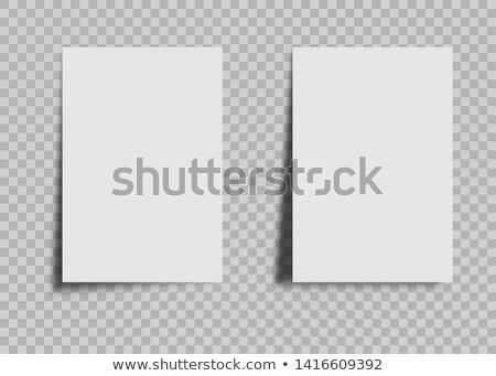 Branco nota escritório comunicação informação publicidade Foto stock © winterling