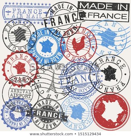 Francuski po pieczęć Francja wydrukowane symbol Zdjęcia stock © Taigi