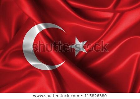 Fabric texture of the flag of Turkey Stock photo © maxmitzu