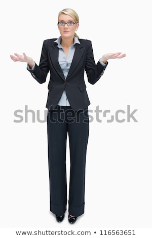Businesswoman in glasses giving I don't know gesture Stock photo © wavebreak_media
