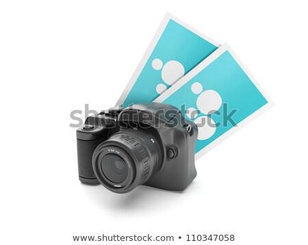 ilustração · 3d · foto · câmera · grupo · instantâneo · tecnologia - foto stock © kolobsek